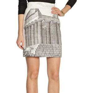 ISO Ancient Rome Printed Linen Skirt